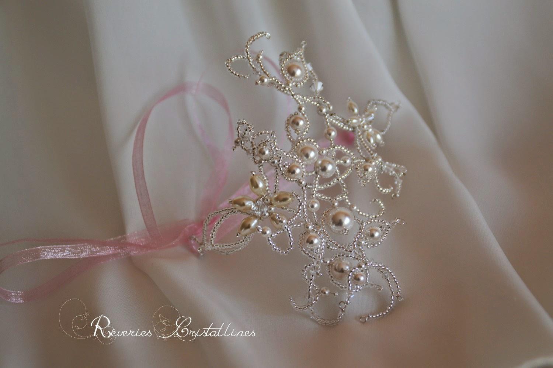 bijou de bras romantique blanc et rose