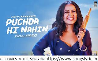 PUCHDA HI NAHIN lyrics - Neha Kakkar | Rohit Khandelwal | Babbu | Maninder B | MixSingh
