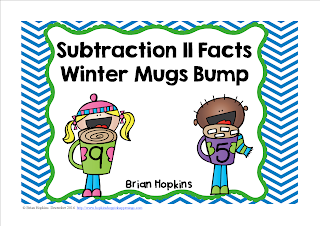 Subtracting From 11 Winter Mugs Bump FREEBIE