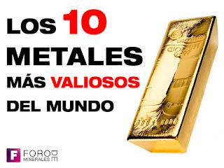 los metales mas valiosos del 2017 2018 - foro de minerales