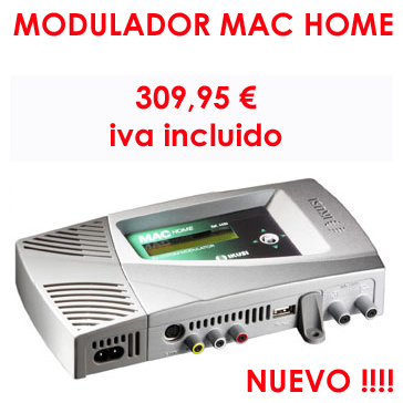 modulador MAC HOME, antenas TDT en Madrid