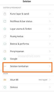 Ganti bahasa Hp Xiaomi