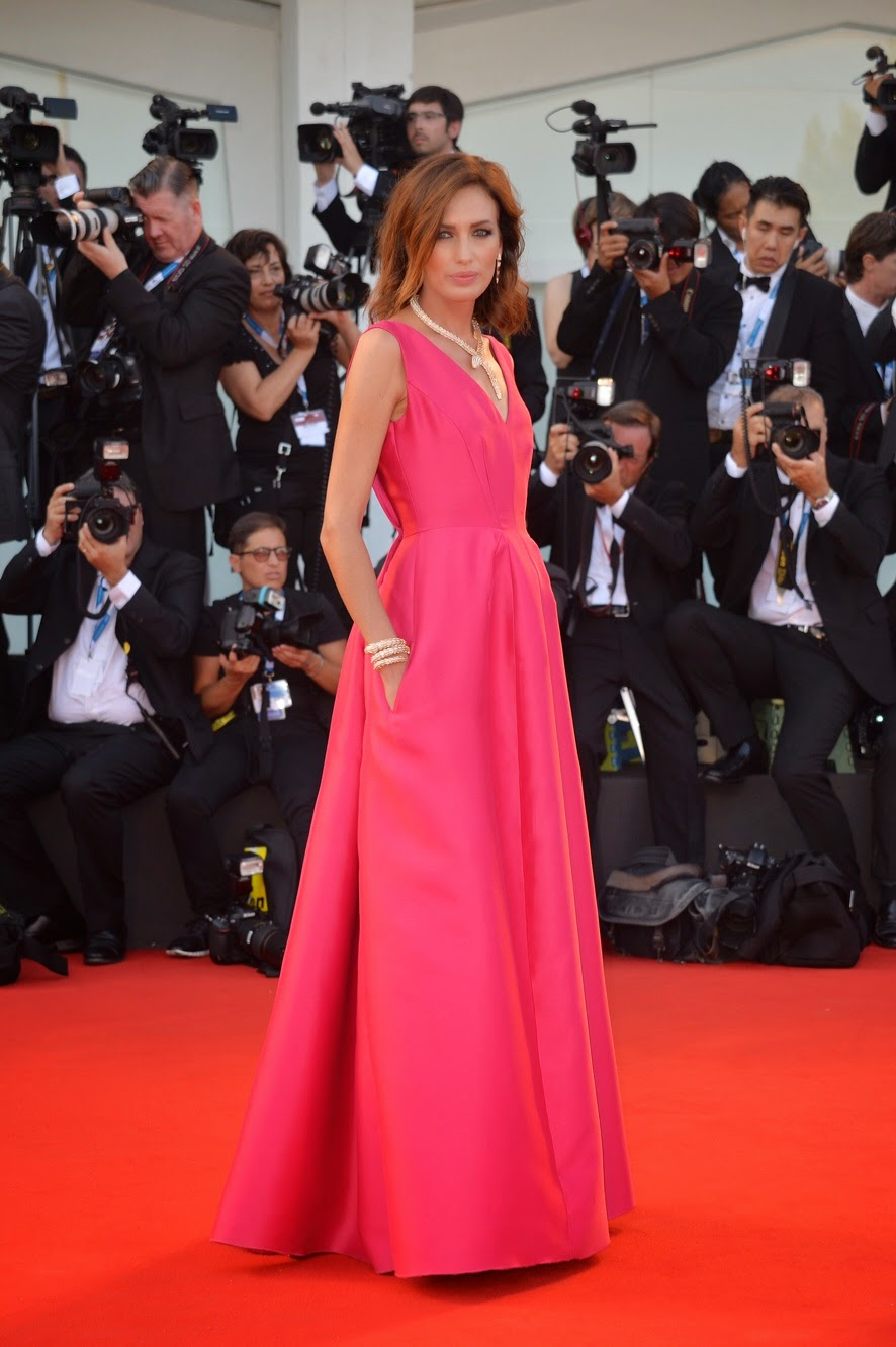 Nieves Alvarez on Red Carpet at Venice film festival