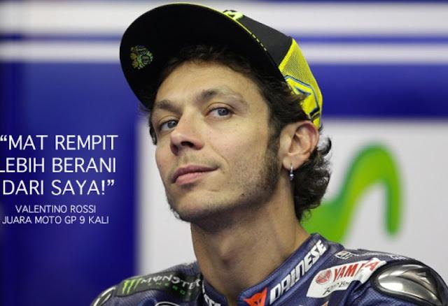 berita motogp Rossi tak berani ditantang balap liar di Malaysia