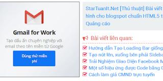 Bài viết liên quan tích hợp quảng cáo cho Blogspot