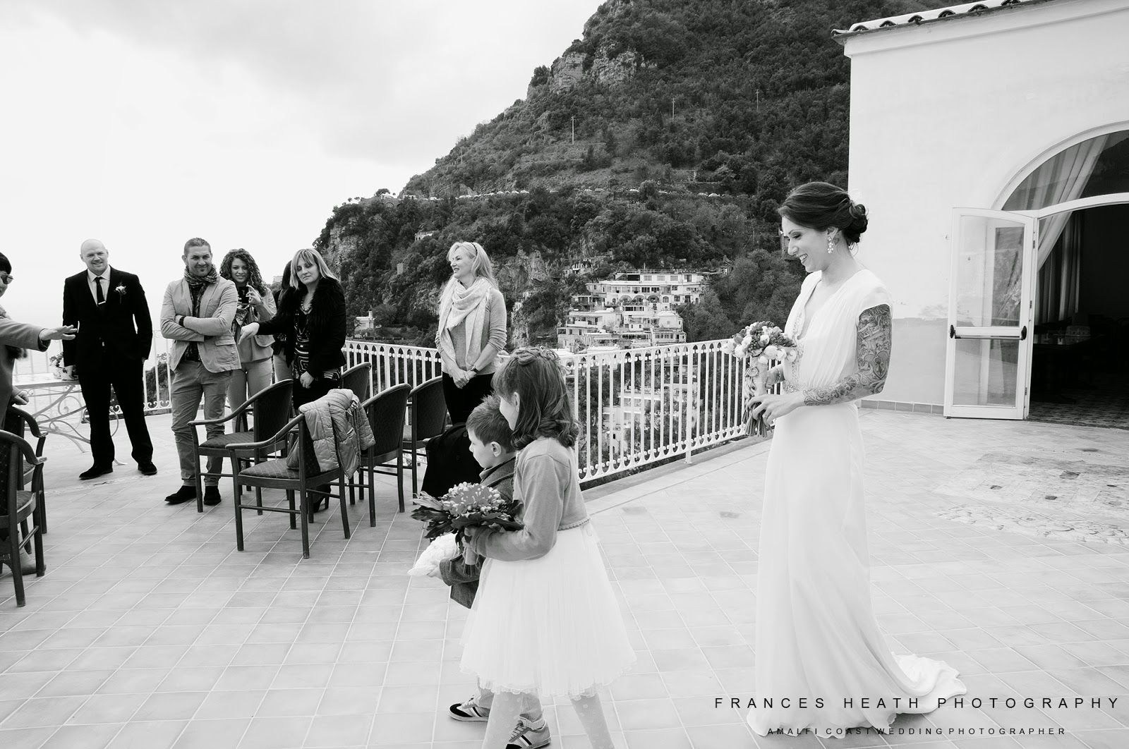 Wedding ceremony at Positano town hall