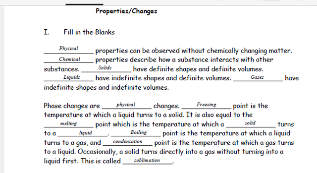 Ms Clark 39 S Physical Science Blog Answer Key Physical