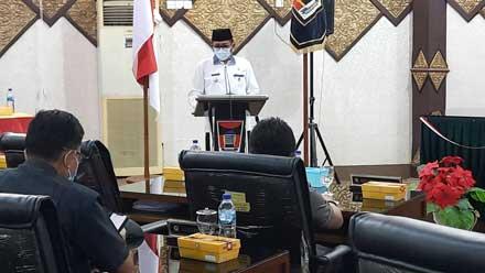 Walikota Padang secara resmi sampaikan Nota Keuangan dan Ranperda RAPBD 2022