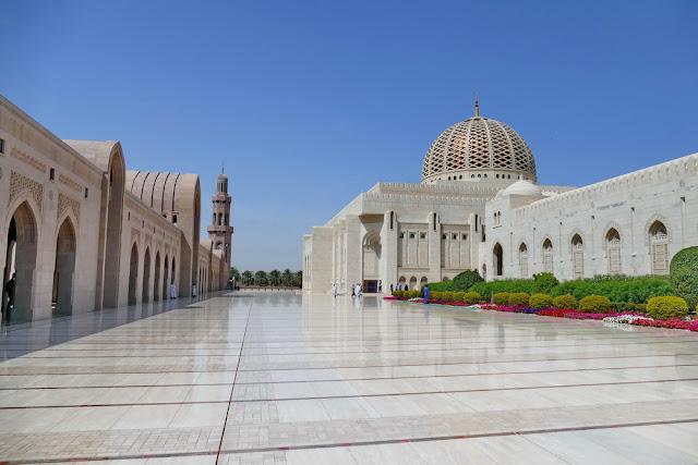 Sultan, Qabus, Moschee, Garten, Marmorboden, gross, Nebengebäude