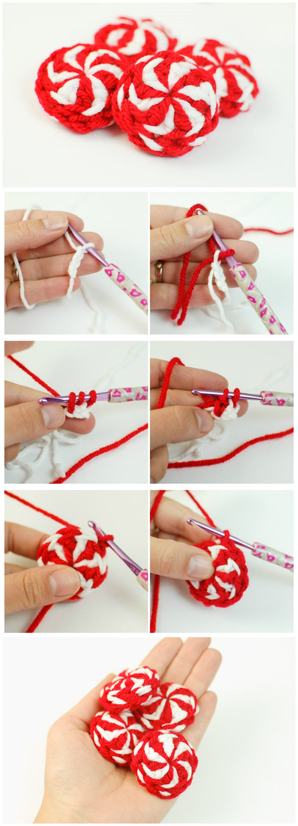 Peppermint Candy Christmas Crochet Pattern