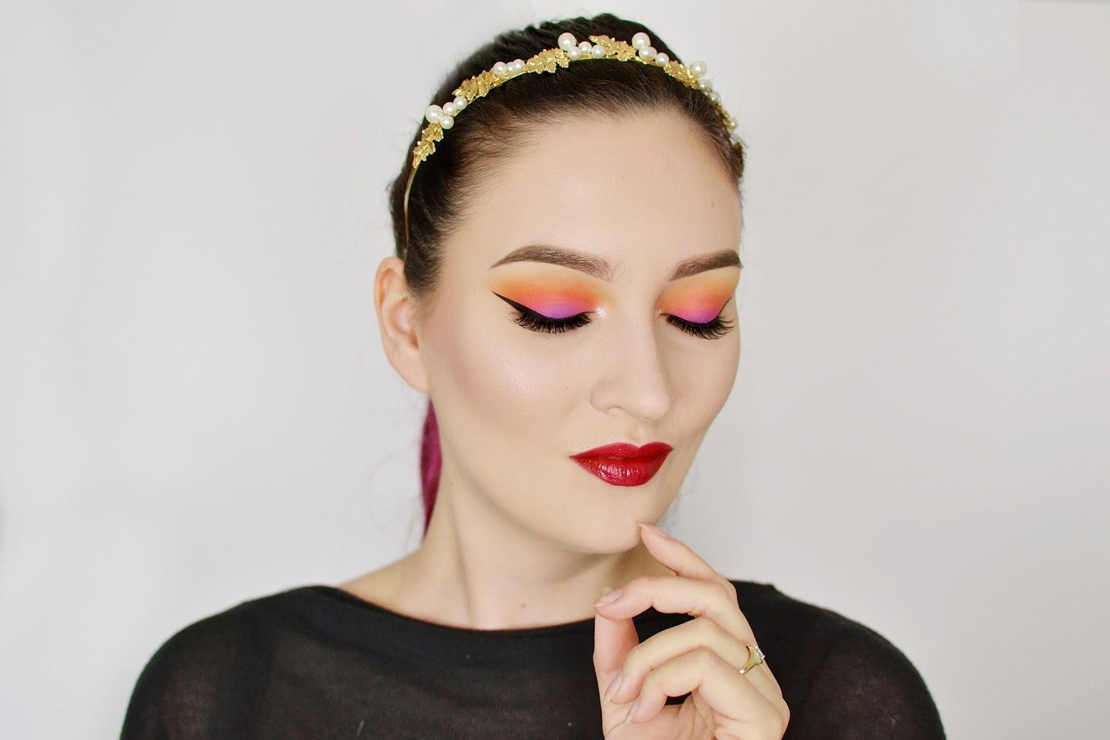 makijaż na lato sunset makeup