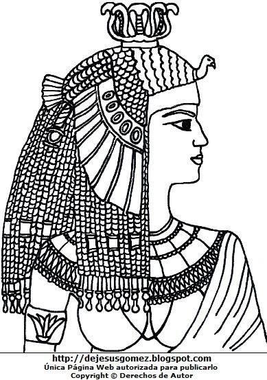 Ilustración de Cleopatra para dibujar o colorear. Dibujo de Cleopatra de Jesus Gómez
