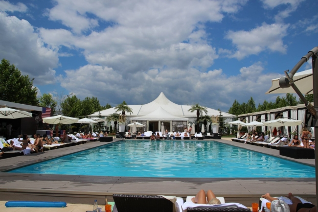 Vedere de la piscina Blueberry Pool Ambasad'or