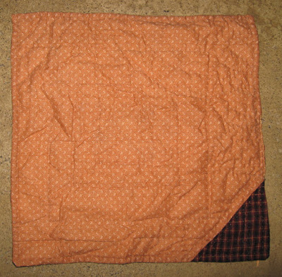 Sample quilt with Mountain Mist wool/poly batting after being washed