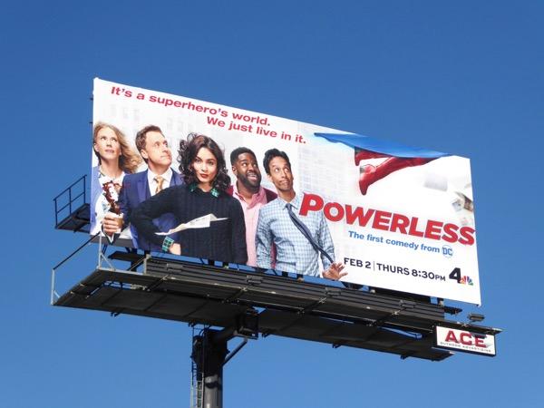 Powerless TV billboard