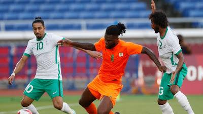 ملخص اهداف مباراة السعودية وكوت ديفوار (1-2) اولمبياد طوكيو