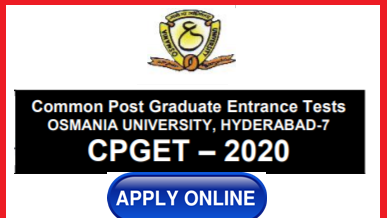 Common PG Entrance Test 2020 Notification by Osmania University to get admission into Post Graduate Courses MA M.Sc M.Com M.Ed, MCJ, M.Lib.Sc M.P.Ed etc and also for Admission into 5 Years Integrated Programmes ( MA M.Sc, MBA ) with Intermediate Qualifications offered by Osmania University, Kakathiya, Telangana Mahathma Gandhi, Palamuru Sathavahana and Jawahar Lal Nehru Technological University in their campus and affiliated colleges for the Academic year 2020-21.