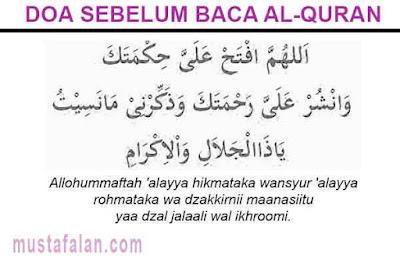 doa sebelum membaca alquran