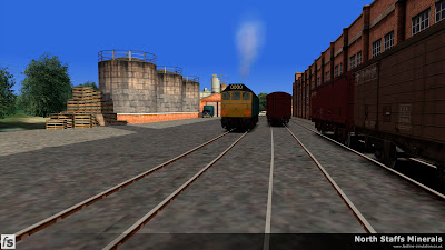 Fastline Simulation - North Staffs Minerals: The Class 25 continues its duties in the sidings at the Wedgwood factory in North Staffs Minerals a route for RailWorks Train Simulator 2012.