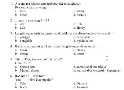 Soal Pat Ukk Kelas 3 Bahasa Sunda Sd Mi Kurikulum 2013 Tahun 2020 File Pembelajaran Kurikulum2013