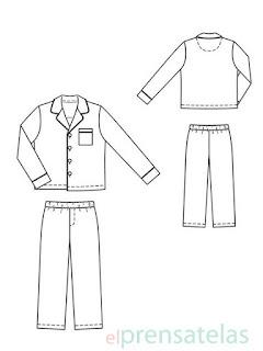 Patrón pijama niño