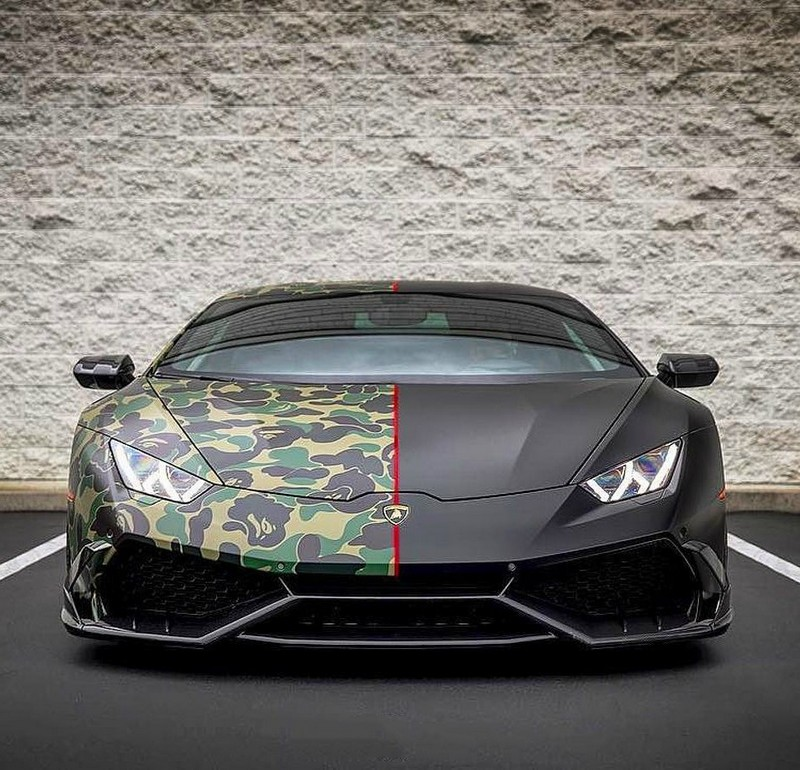 Clear Huracan Military Style Bape Lamborghini My Interests