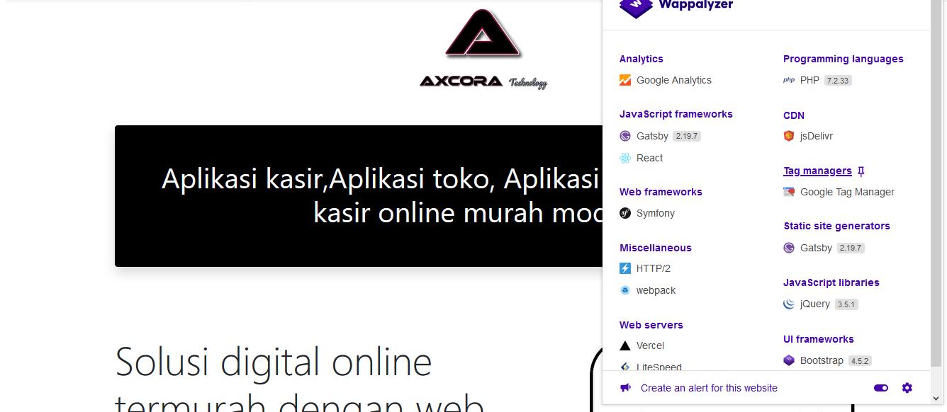 cek technology website