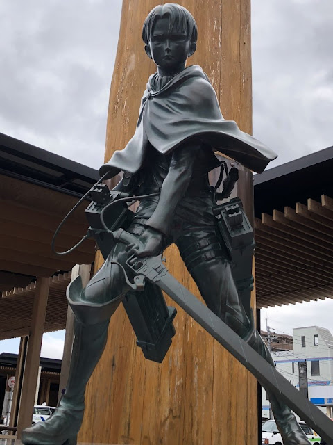 Levi Ackerman Appears In The Real World In The Form Of A Bronze Statue