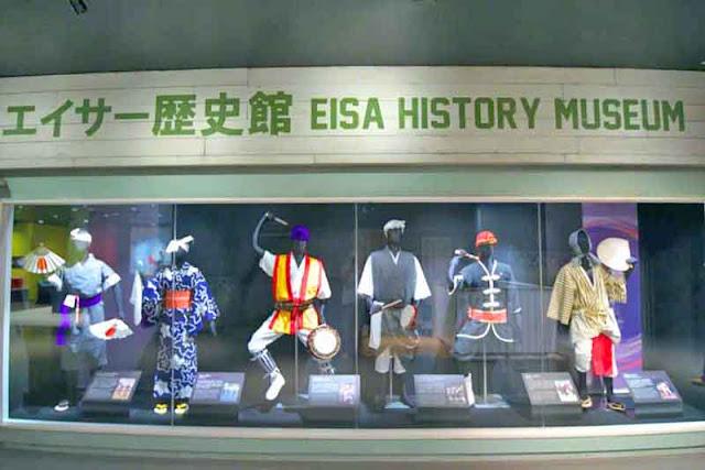 Eisa, museum, statues, uniforms, Okinawa