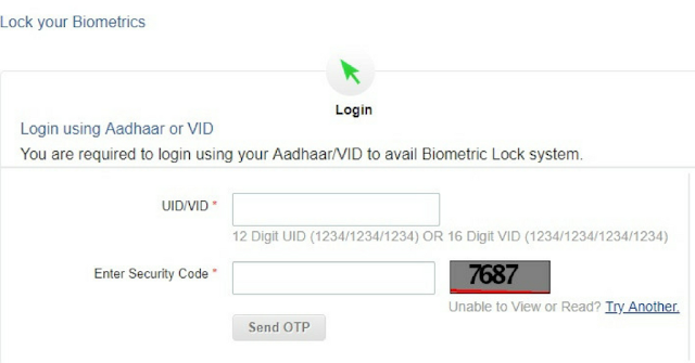 Aadhar Biometric lock