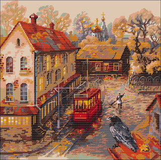 Cross-stitch Riolis 1676 «Warm Autumn»