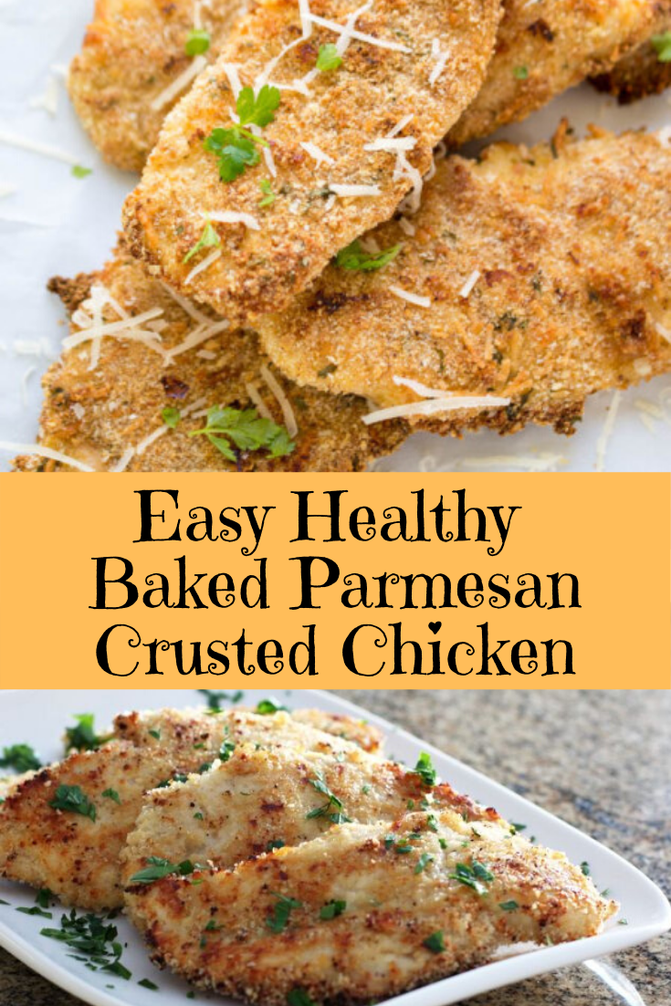 Easy Healthy Baked Parmesan Crusted Chicken