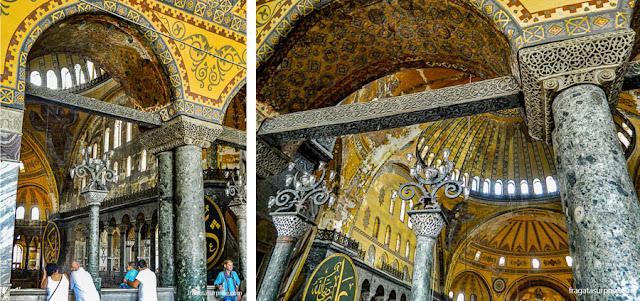 Galeria superior da Basílica de Santa Sofia, em Istambul