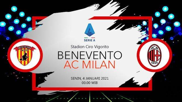 Prediksi Benevento Vs AC Milan