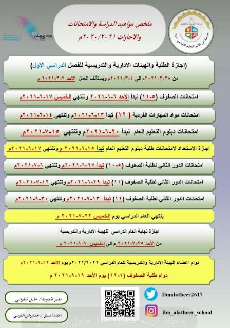 بداية العام الدراسي الجديد 2021/2022 سلطنة عمان