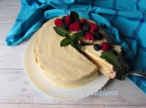Торта с млечен крем и горски плодове * Torta con frutti di bosco e crema