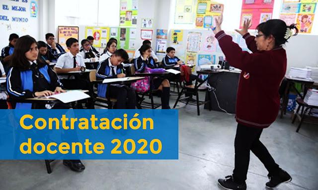 Contratación docente 2020, más 106 mil plazas para contratación en 2020