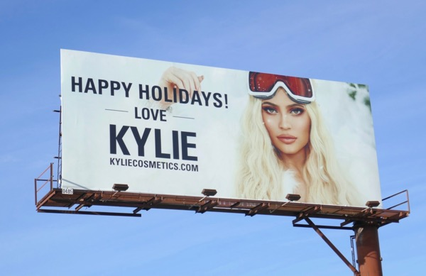 Happy Holidays Love Kylie Cosmetics billboard
