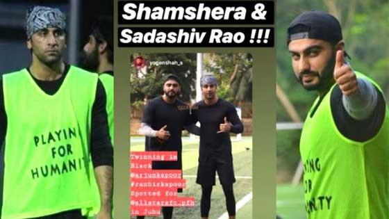 Ranbir Kapoor And Arjun Kapoor Bond Over Football