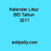 Kalender Libur BEI Tahun 2017