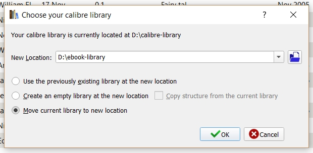 how to create a new library in calibre
