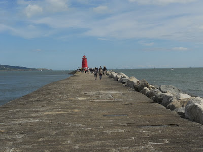 Great South Wall and Poolbeg Lighthouse in Dublin