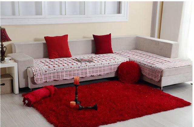 Como decorar salas con alfombras rojas decoraci n del - Alfombras de comedor ...