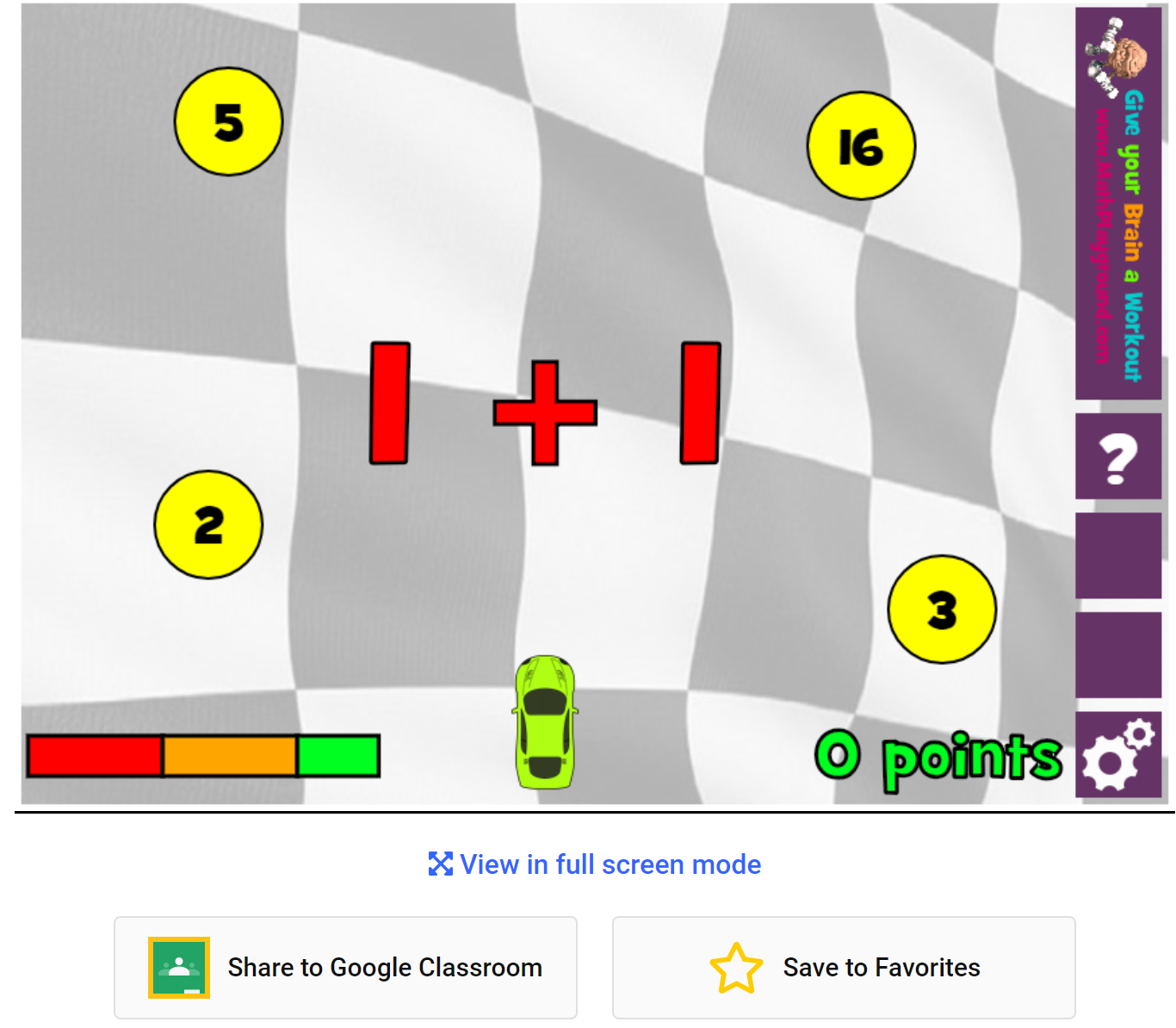 Free Technology for Teachers: Share Math Playground