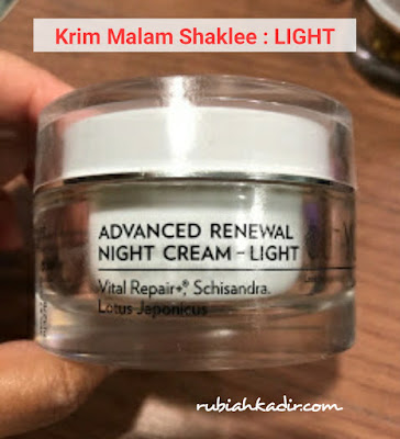 Krim Malam Shaklee : Jenis Light