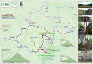 Mappa Percorsi Zona Monte Amiata