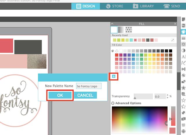custom color, color palettes, color fill, silhouette studio, studio v4.3