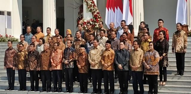 Jokowi Lantik Menteri Kabinet Indonesia Maju