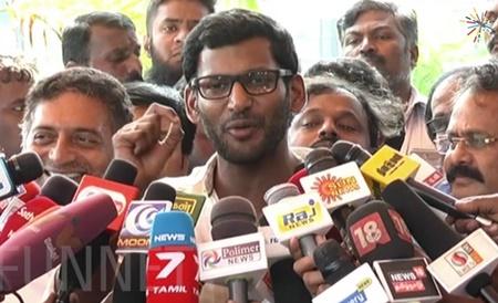 vishal speech after producer council meeting