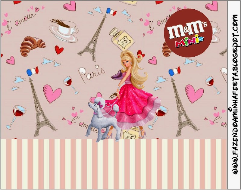New Barbie Magic and Fashion Free Printable M uM Candy Bar Labels